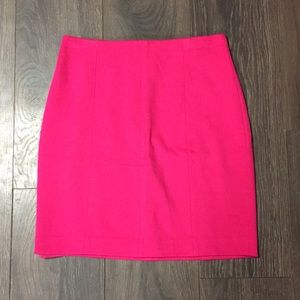 Ann Taylor Hot Pink Knit Pencil Skirt